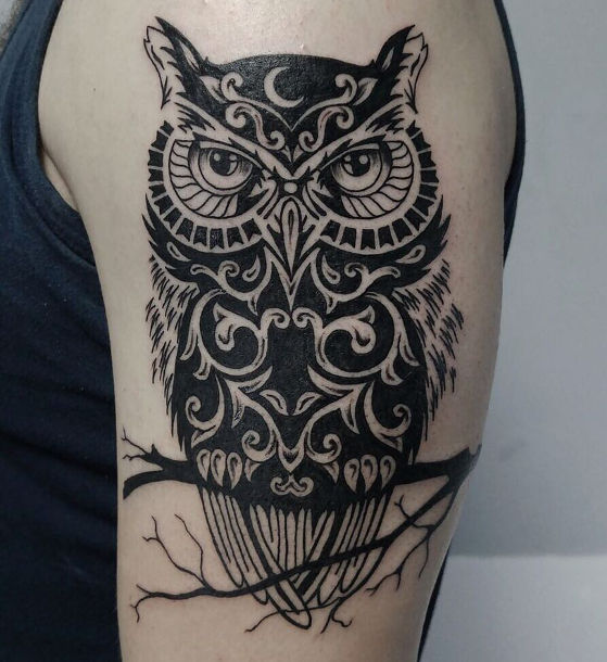 tattoo Black owl