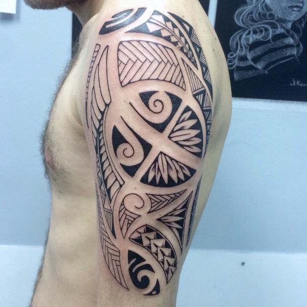 Maori tattoo style on the arm